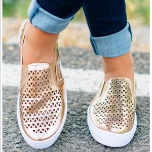 Shoes - | coming soon |  • rose gold slip ons •